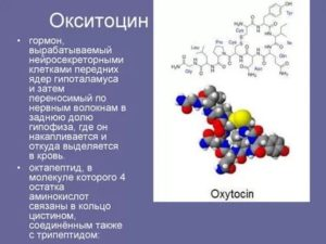 Почему нет реакции от окситоцина
