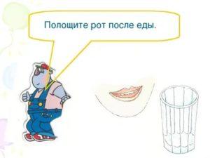 Полоскание рта после еды