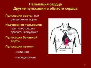 Сердце пульсирует в желудке