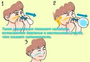 Сухой кашель заложено ухо
